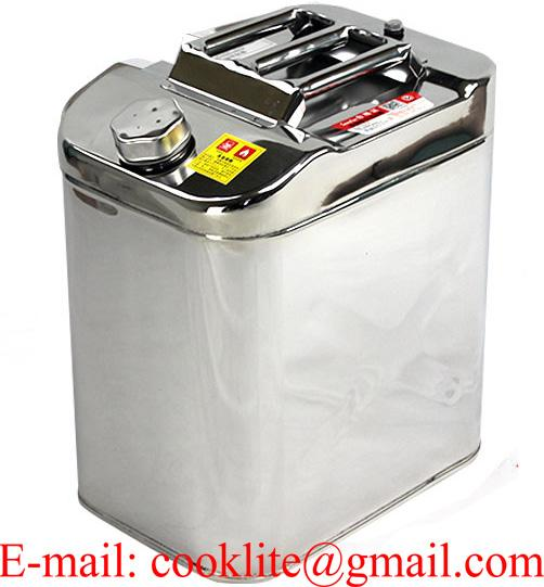 Jerry Can Stainless Steel 30 L Litre Fuel Diesel Gasoline Petrol Oil Kerosene Water