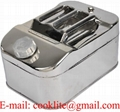 10L Jerry Can Diesel Gasoline Fuel / Water Storage 304 Stainless Steel for Boat/4WD/Motorbike