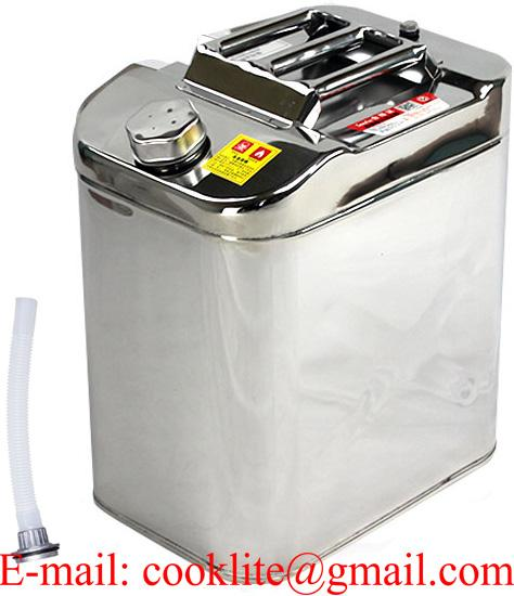 30L Jerry Can Diesel Gasoline Fuel Water Storage Stainless Steel for Boat/4WD