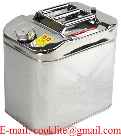 25L Stainless Steel Jerry Can with Built-in Spout for 4WD/Car/Motorcycle Fuel