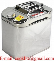 25 Liter Stainless Steel Petrol/Diesel/Fuel Jerry Can With Screw Cap