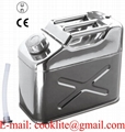 10L Stainless Steel Jerry Can Fuel/Drinking Water Storage Built-in Spout 4WD SUV