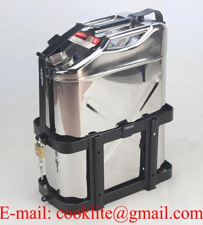 20L Stainless Steel Jerry Can Built-in Spout Fuel/Drinking Water Storage 4WD SUV
