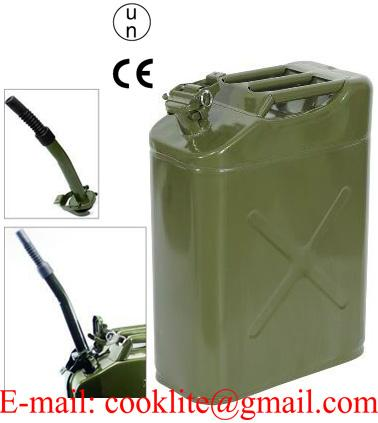 5 Gallon 0.8mm 20L Metal Jerry Can Emergency Backup Gasoline Steel Tank