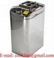 40L Stainless Steel Jerry Can Built-in Spout Fuel/Water Storage 4WD Motorbike