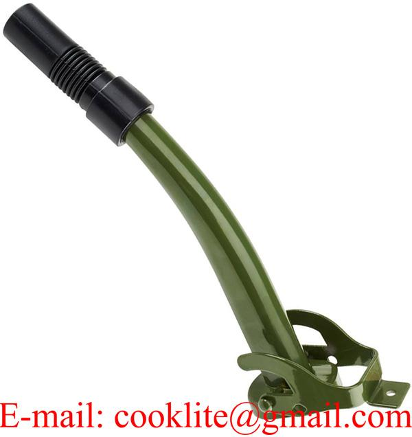 Car Jerry Can Spout Flexible Nozzle Tip Metal Filter Fuel Funnel Petrol Oil