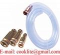 Self-priming copper transfer jiggler pump siphon hose