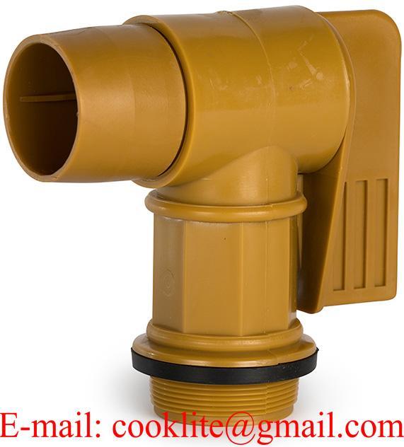 """2"""" Gold Plastic Drum Faucet"""