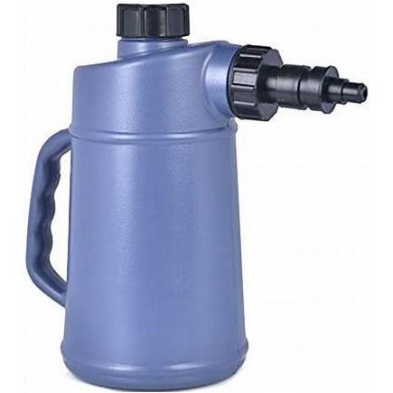 Plastic Oil Measuring Jug With Pouring Spout, Lid and Cap - 1L