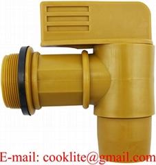 "Polyethylene Plastic Drum Faucet 2"" Lever Type Barrel Tap With EPDM Gaskets"