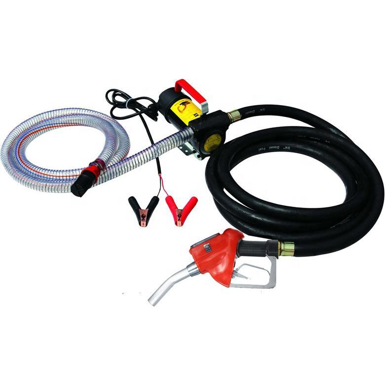 Mini Fuel Dispenser Mobile Gas Station DC 12V/24V Diesel Oil Fuel Transfer Pump Kit