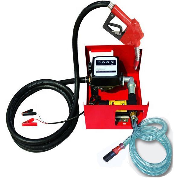 Mini Fuel Station 12/24 Volt AC Diesel Biodiesel Kerosene Oil Transfer Dispensing Fuel Pump Kit