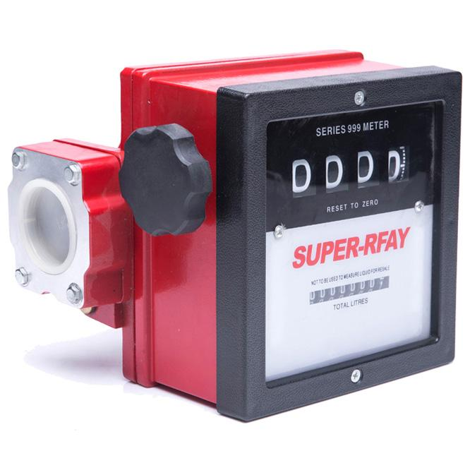 4-Bit Digital Diesel Fuel Oil Flow Meter Gallon Counter Meter 1% 1""