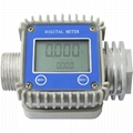 K24 Turbine Digital Diesel Fuel Flow Meter Anti-alkali For Chemicals Water Flow Rate Sensor