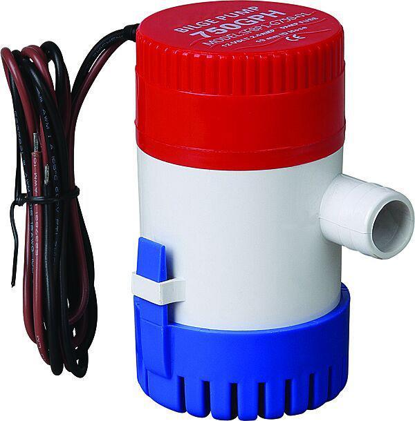 Bilge Pump 12V 24V 750GPH Non Automatic