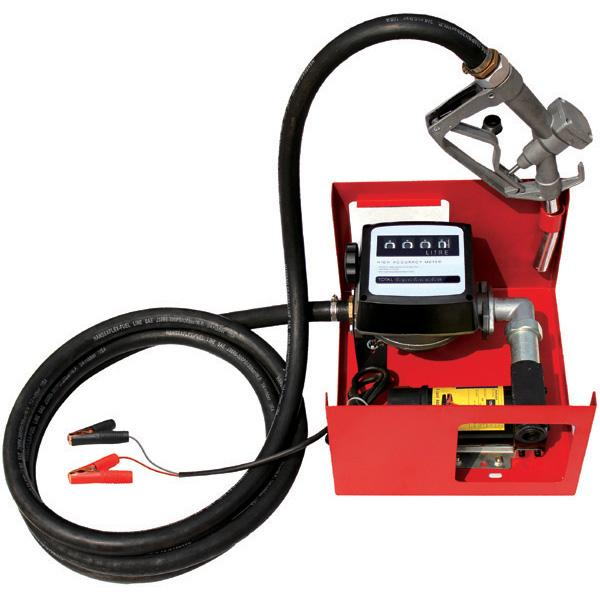 Pompa transfer motorina 12V/24V cu furtun si contor 4 cifre