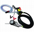 Pompa transfer combustibil 12V/24V cu pistol si furtun