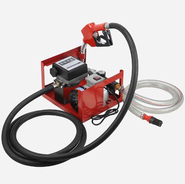 Pompa motorina 220V,60L/Min in carcasa metalica si cu debitmetru mecanic