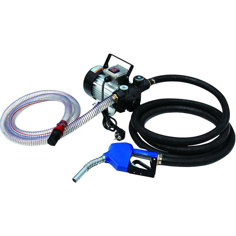 Pompa electrica de transfer motorina combustibil 220v cu pistol si furtun
