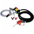 Pompa electrica de transfer motorina combustibil 12v 24v cu pistol si furtun