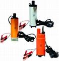 Pompa submersibila mica pentru transfer benzina / motorina 24V DC