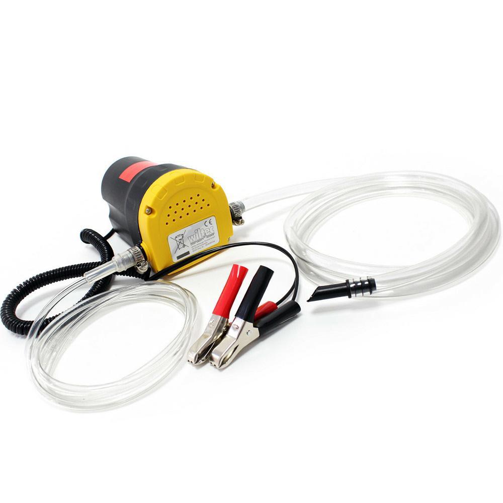 Pompa Aspirazione Pompa Estrattore per Aspirazione Olio Motore e Gasolio 60W 12V