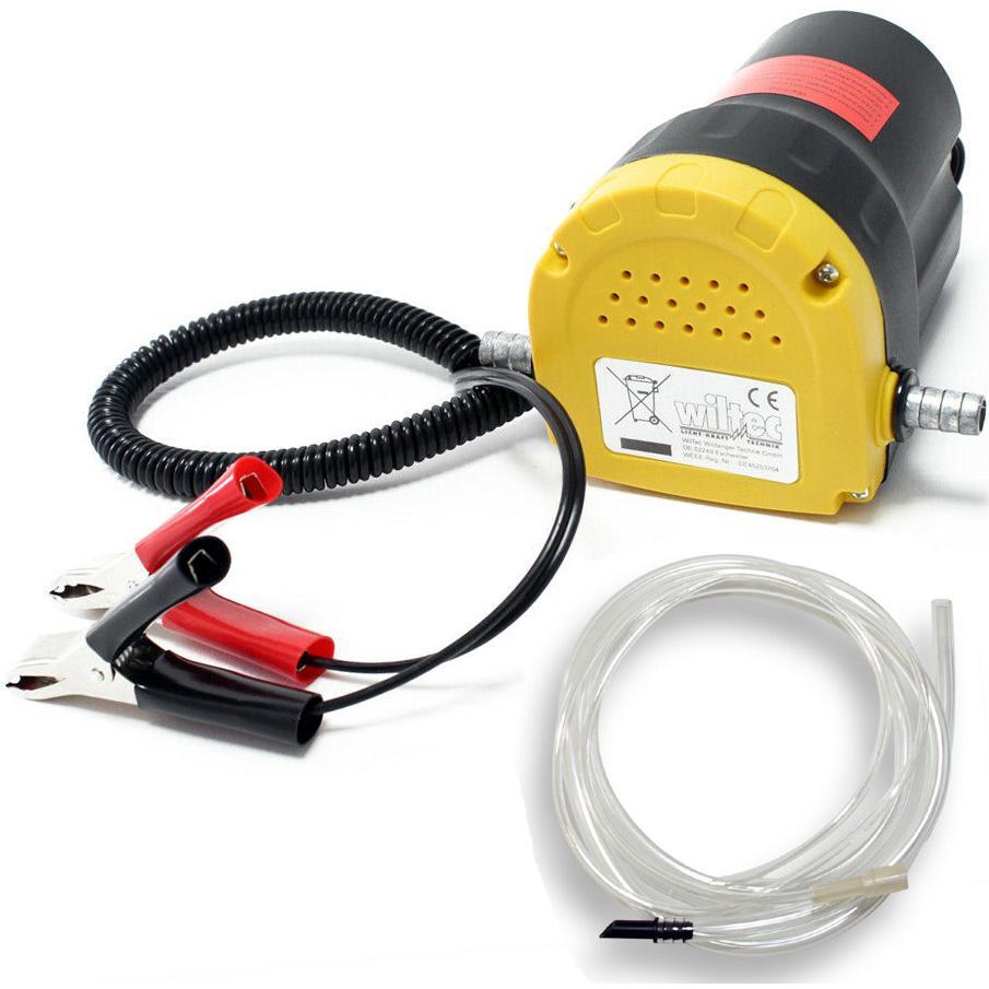 Pompa Travaso 12V Cambio Aspira Olio Auto Gasolio Elettropompa