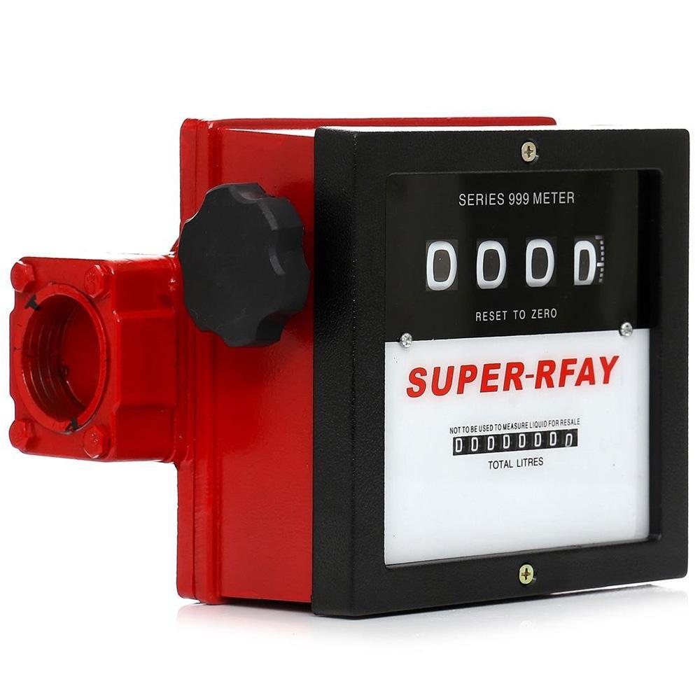 Gázolaj üzemanyag átfolyásmérő 4 digites kijelző és összmennyiség számláló dízel üzemanyag számoló