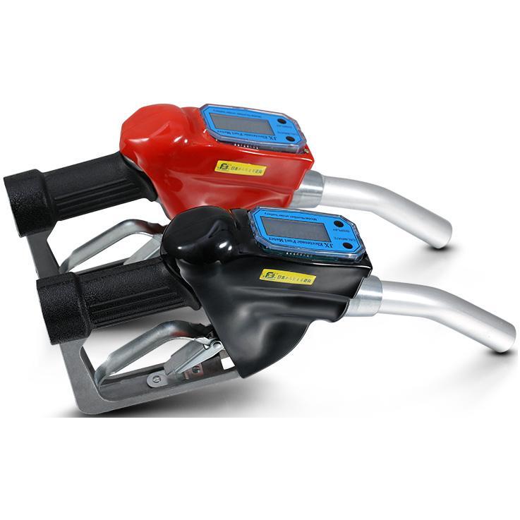 Pumphandtag med autostop och flödesmätare