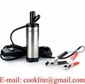 12V Mini Pompe Submersible Electrique Transfert d eau/Diesel/Kérosène Siphon Diamètre 3.8cm pour Moto Automobile Voiture