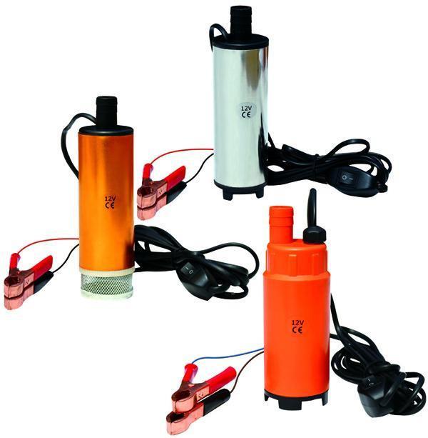 Pompe submersible électrique de voiture 12V transfert d'huile carburant diesel l'eau / eau