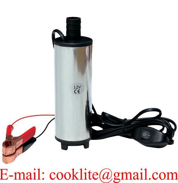 Nerezové ponorné čerpadlo / pumpa na olej a naftu, 60 W, 12/24 V
