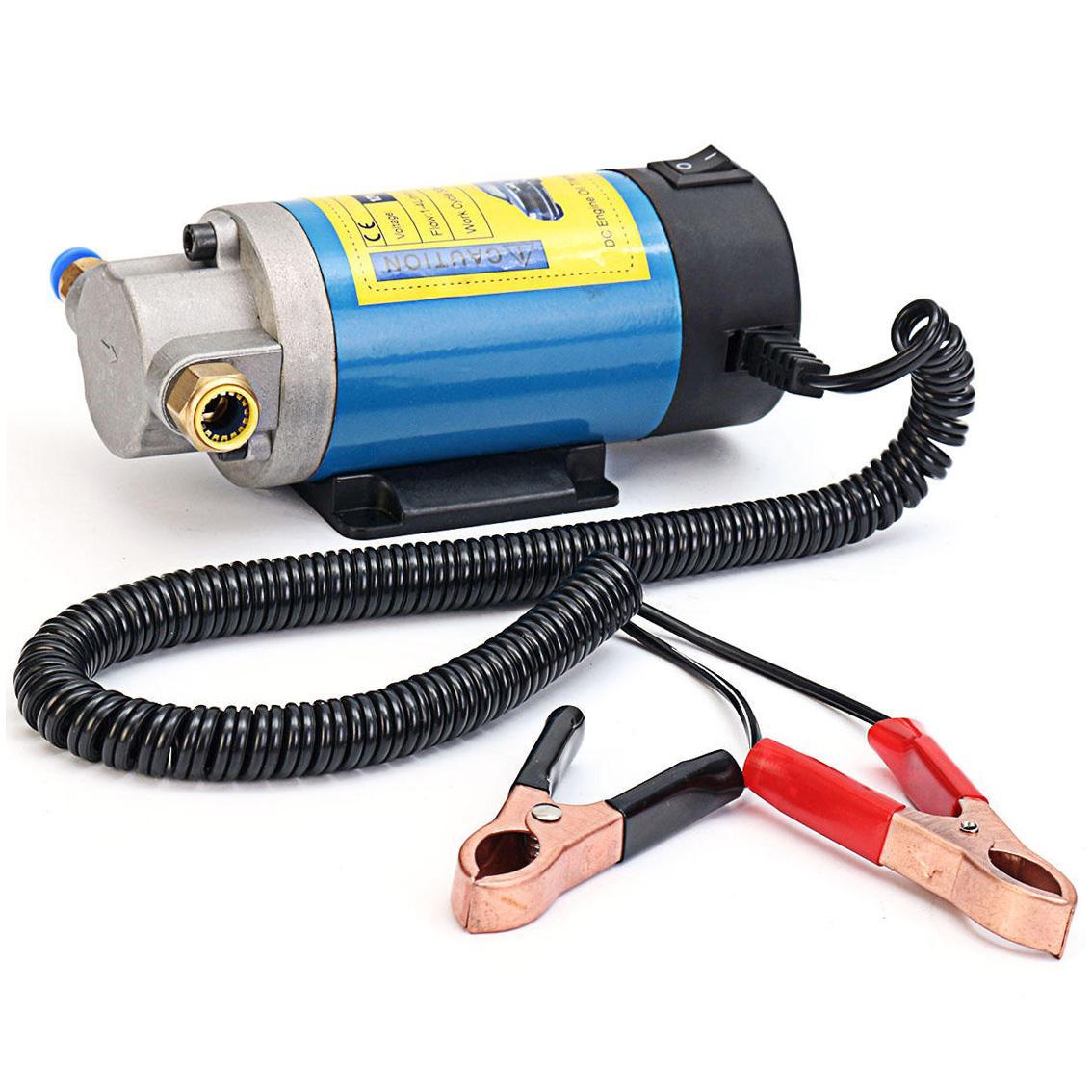 Sucção Óleo elétrica portátil da extrusora da bomba de transferência da CC 12V bomba 100w 1-4L / min da água 100W
