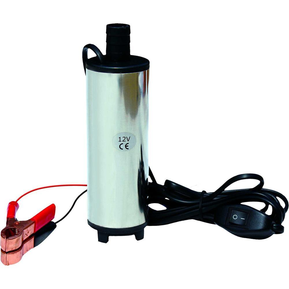 Bomba submersivel de transferencia para oleo diesel e agua 12V 30L/Min