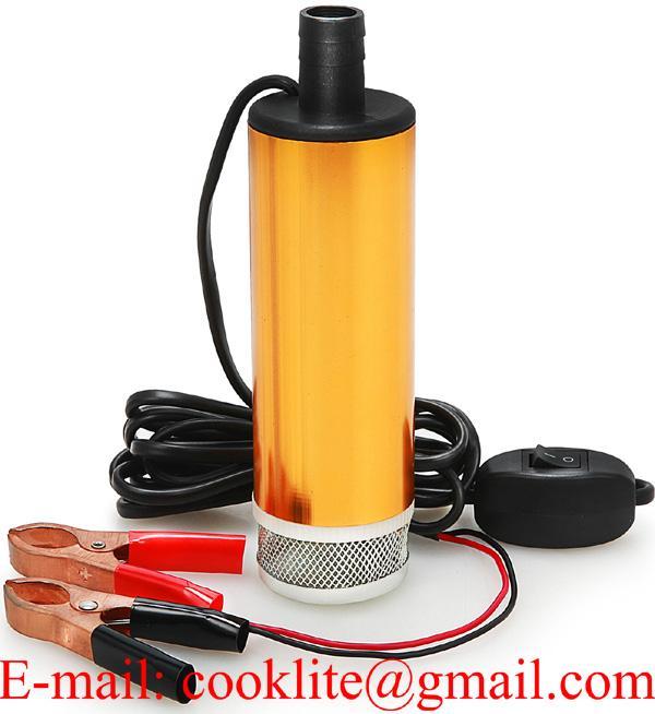 Bomba submersa elétrica bateria para transferência de óleo diesel e água 12V/24V