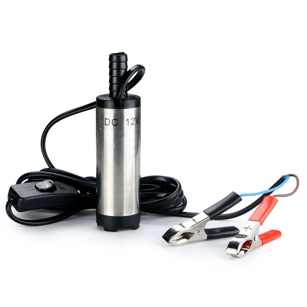 12V Bomba submersivel para oleo diesel e agua - 38mm 20L/Min