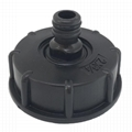 "IBC Tote Tank Drain Adapter S60x6 Coarse Thread to 1/2"" Outlet"