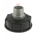 """Stainless Steel IBC Tote Tank Adapter S60x6 2"""" Female Thread to 3/4"""" BSP Male Thread"""