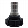 """Stainless Steel IBC Tote Tank Adapter S60x6 2"""" Female Thread to 32MM Hose Tail"""