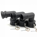 """IBC Camlock Quick Coupling 2""""/DN50 90 Degree Angle PP IBC Tote Tank Valve Fitting Adapter"""