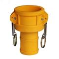 Acople para válvula de IBC tipo C - Camlock a espiga
