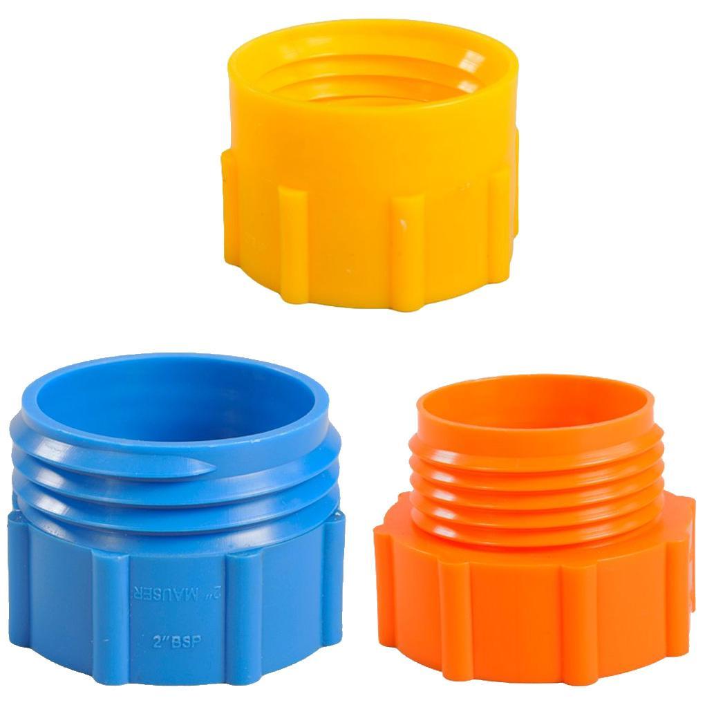 Adaptateur pour pompe à tambour sur fûts en plastique de 200 litres avec filetage MAUSER