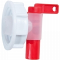 "Polyethylene Plastic Drum Faucet 2"" Lever Type Barrel Tap With EPDM Gaskets"