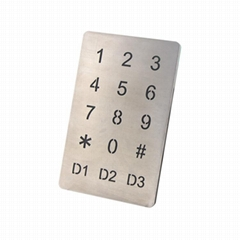 Intercom doorbell keypad 15keys touch-screen control keypad