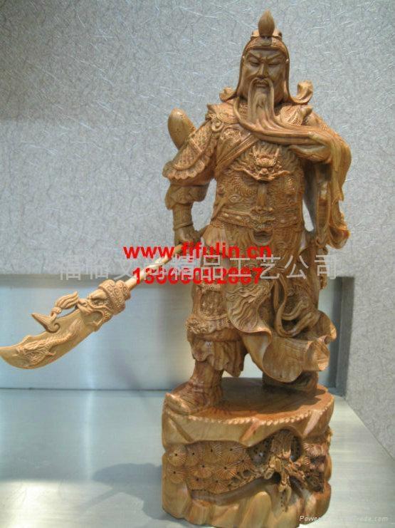 东阳木雕关公佛像
