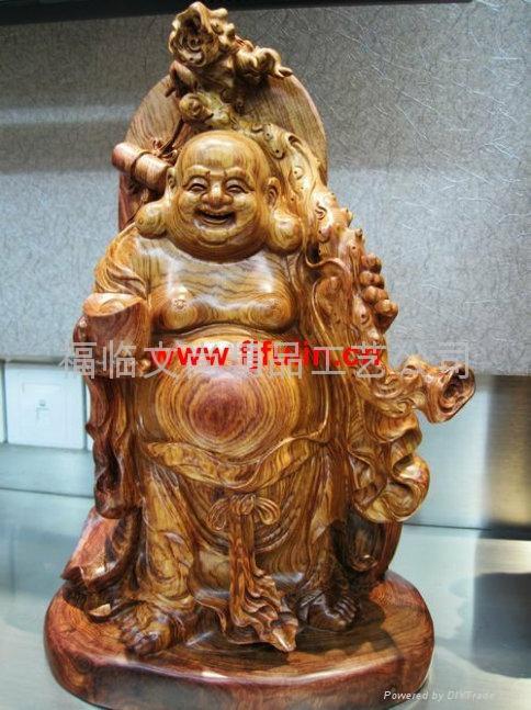 越南黄花梨弥勒佛木雕