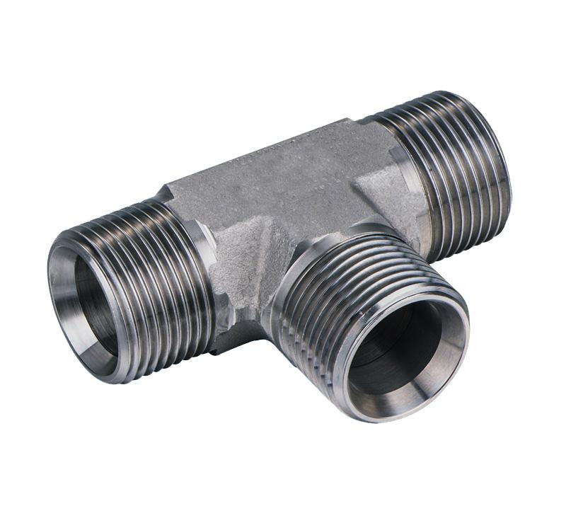 Hydraulic pipe fitting bspp male degrees cone seat