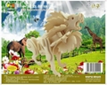 Sell-3d wooden puzzles-animal toy  3