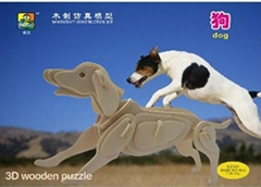 Sell-3d wooden puzzles-animal toy