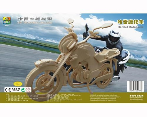 Sell-education new fashion motocycle DIY puzzle wooden toys 1